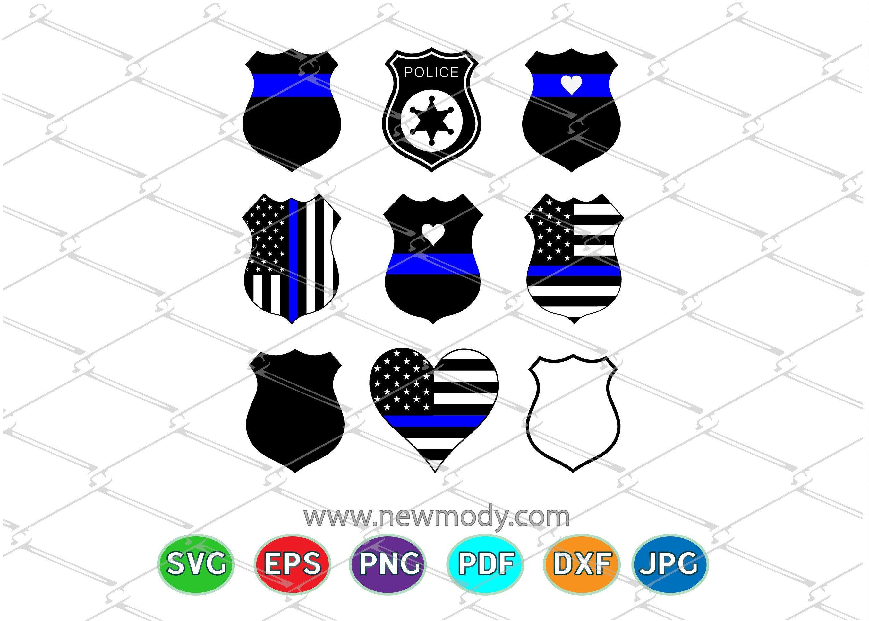 Pin on Police Badge SVG Bundle Police Heart Svg