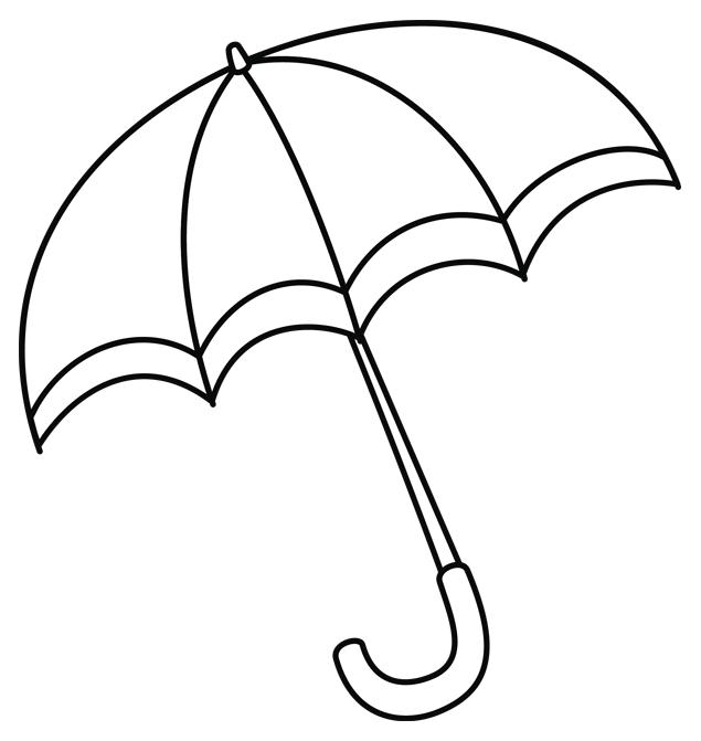 Images d 39 automne colorier un parapluie id es pour la maison pinterest colorier - Dessin d automne facile ...