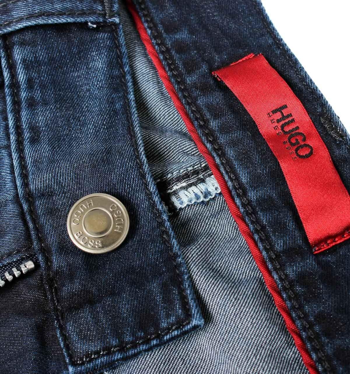 Denim Jeans Hugo Boss Blue Slim Fithugo Boss Hugo 708 Blue Slim Fit Denim Jeans Hugo Boss Jeans Para Hombre Pantalones De Hombre Pantalones De Mezclilla