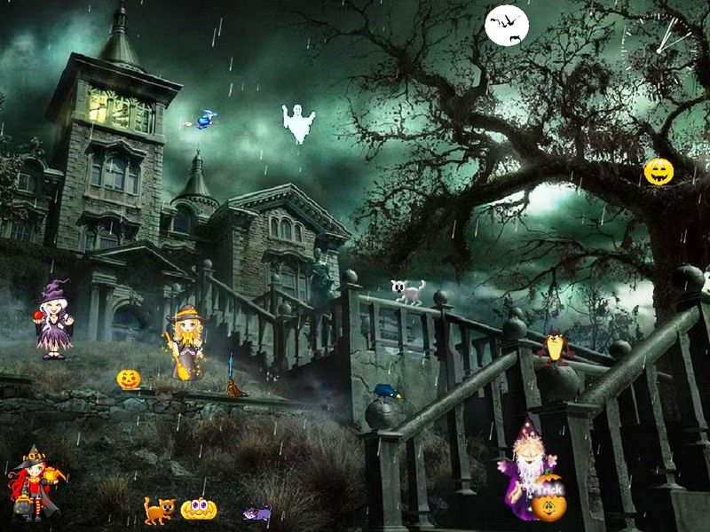Halloween Moving Screensavers Screen Savers Most Haunted Places Halloween Funny