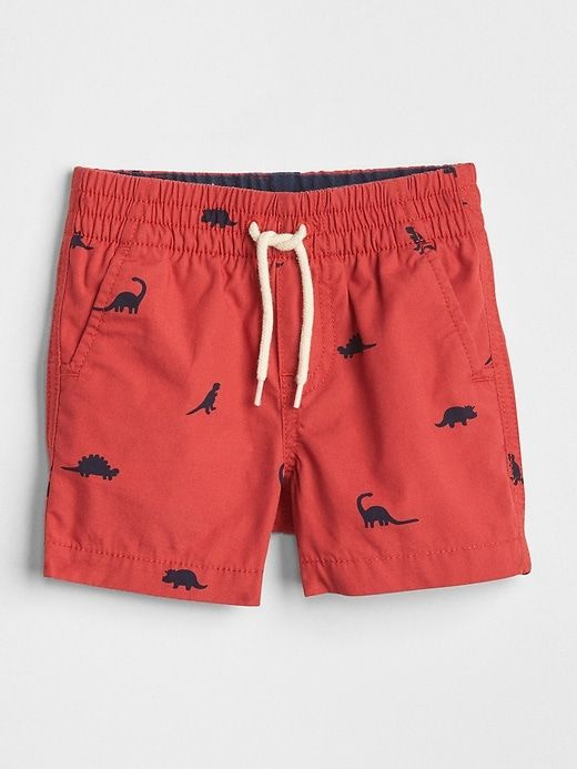 7bcfe60e0 Gap Baby Print Pull-On Shorts Weathered Red | Products | Baby prints ...