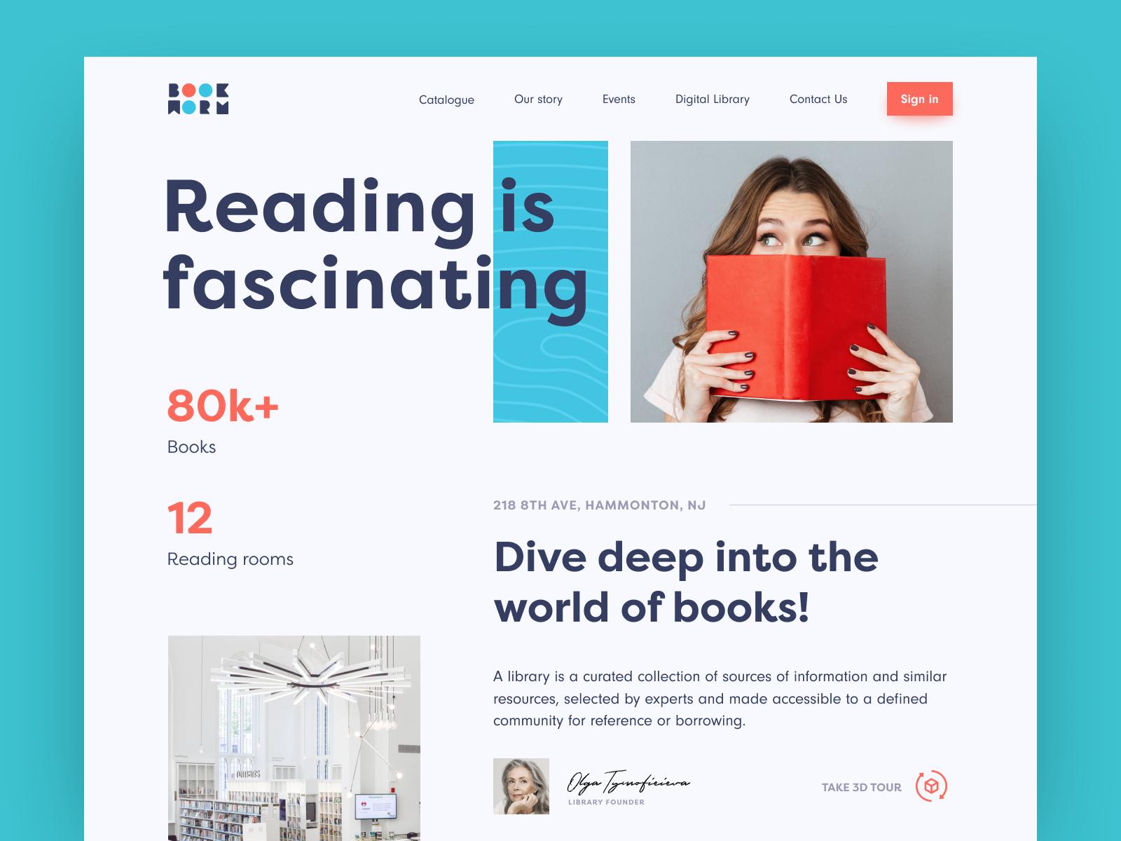 Book Worm Website Web Design Book Worms Web Inspiration