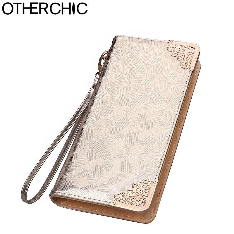 Vintage Women Long Wallet Zipper Coin Purse Royal Style Brand Ladies Wallets Fashion Money Bag Women Female Card Purses 6N01-9