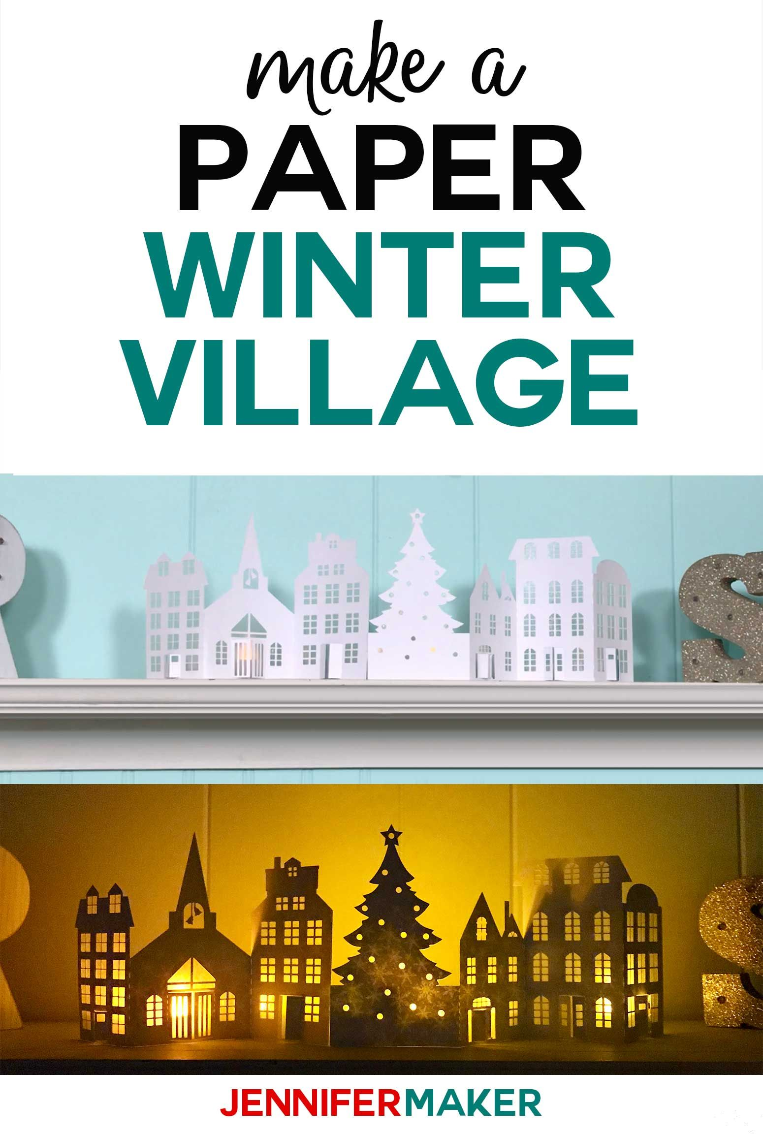 Paper Christmas Village & Houses DIY Crafts Home Decor