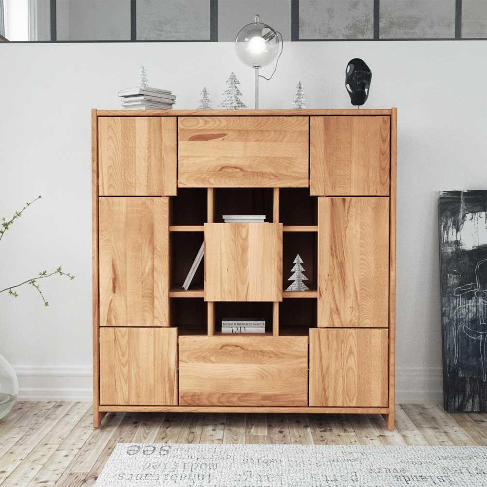 Astounding Schrank Für Wohnzimmer Dekoration Von Highboard Aus Kernbuche Massivholz Modern Jetzt Bestellen