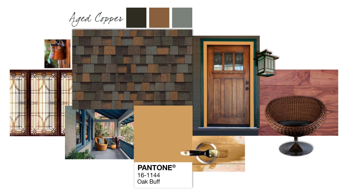 Best Shingle Inspiration Pantone®️ Oak Buff Aged Copper 400 x 300