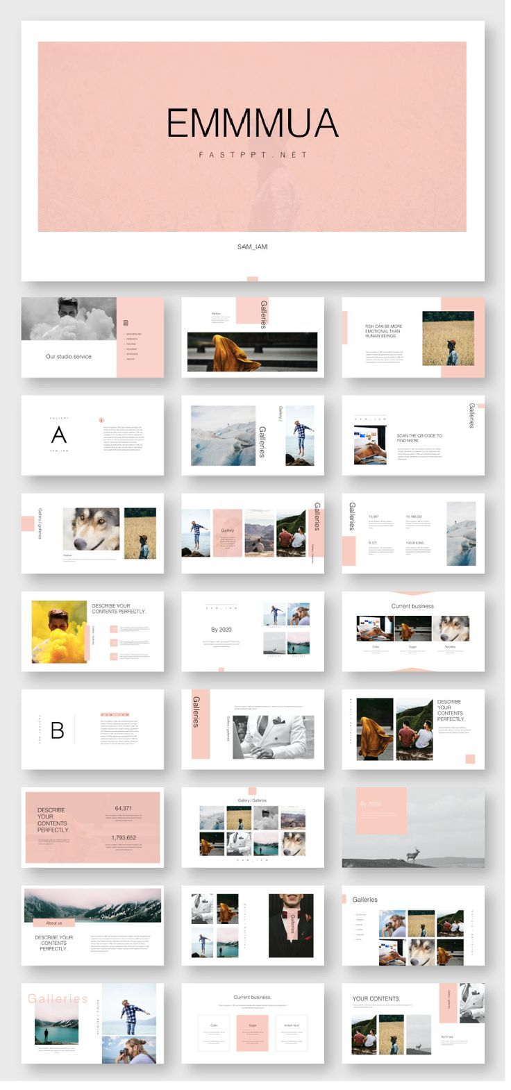 Creative Slides Presentation Template #powerpoint