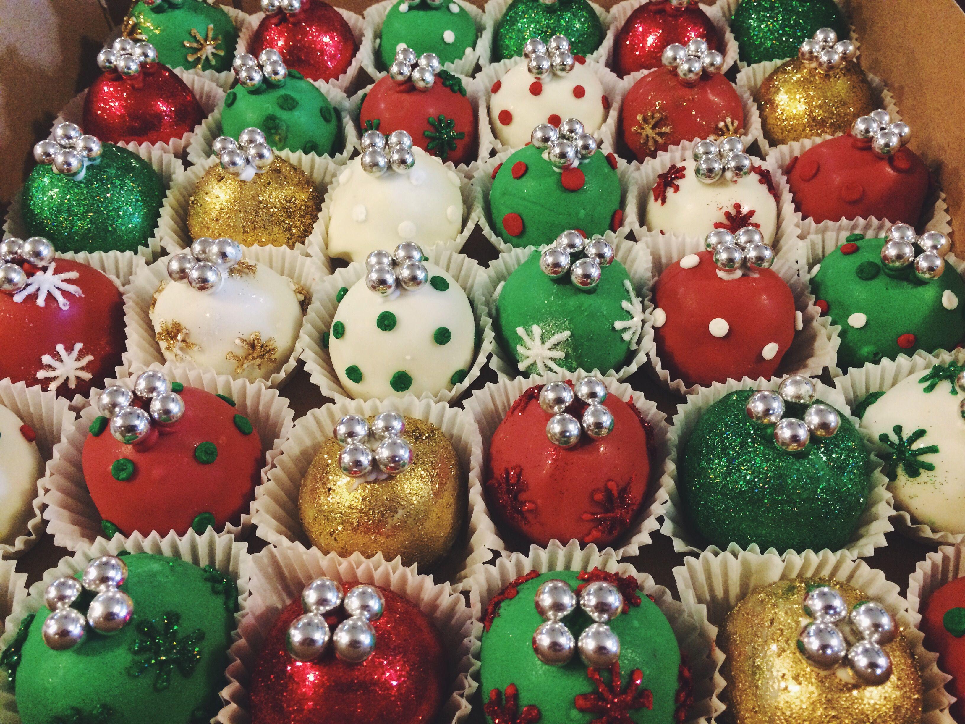 Christmas Ornament Cake Balls Sugar Bee Sweets Bakery Wwwsugarbeesweetscom