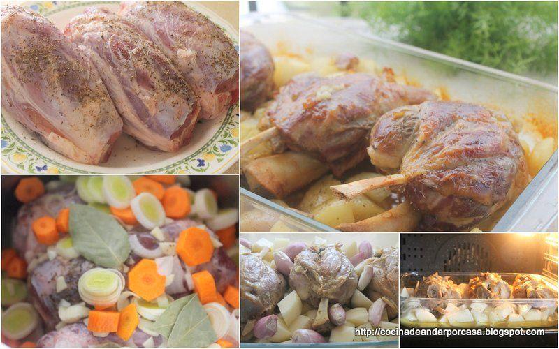 Cocina compartida: Jamoncitos de cerdo con salsa de puerros y zanahorias