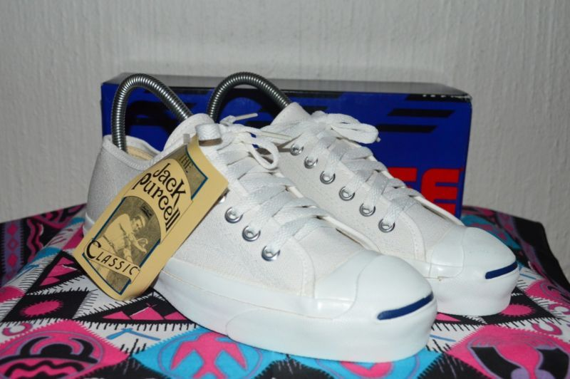 07d110bec24d Details about Converse Jack Purcell Vintage Rare Canvas Deadstock OG ...