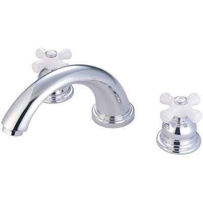 Pioneer Brentwood Double Handle Deck Mounted Roman Tub Faucet Finish: Polished Chrome