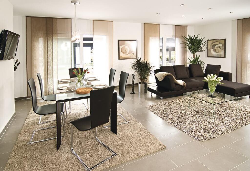 Wohnzimmer  Esszimmer modern einrichten - Inneneinrichtung Haus - esszimmer im wohnzimmer