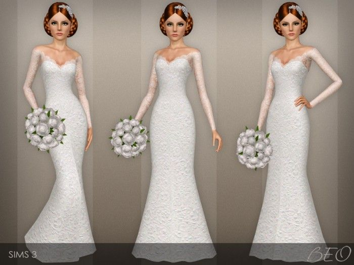 wedding dress 40beo - sims 3 downloads cc caboodle | sims 3