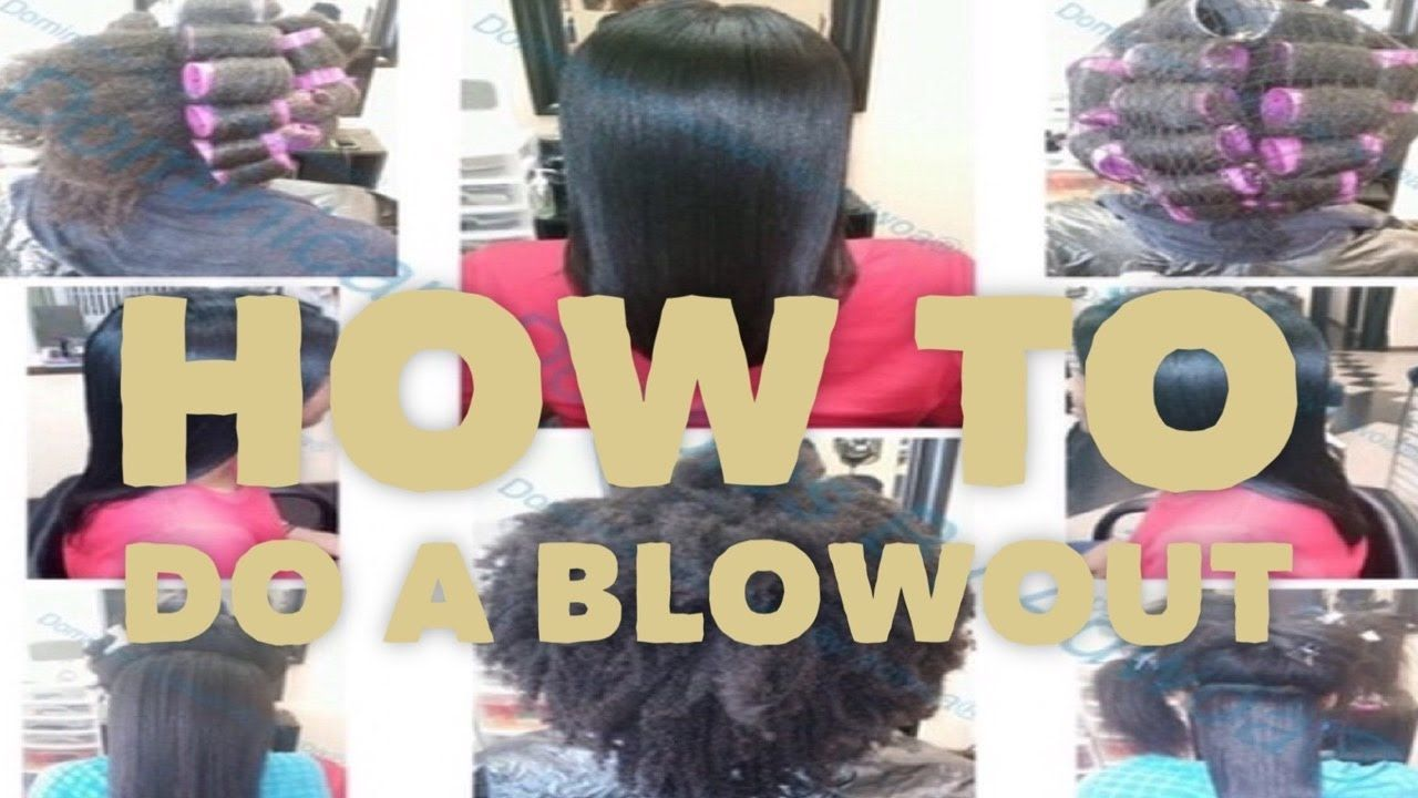 How To Do A Dominican Blowout On Natural Hair Full Tutorial In Salon Youtube Natural Hair Blowout Natural Hair Styles Dominican Blowout
