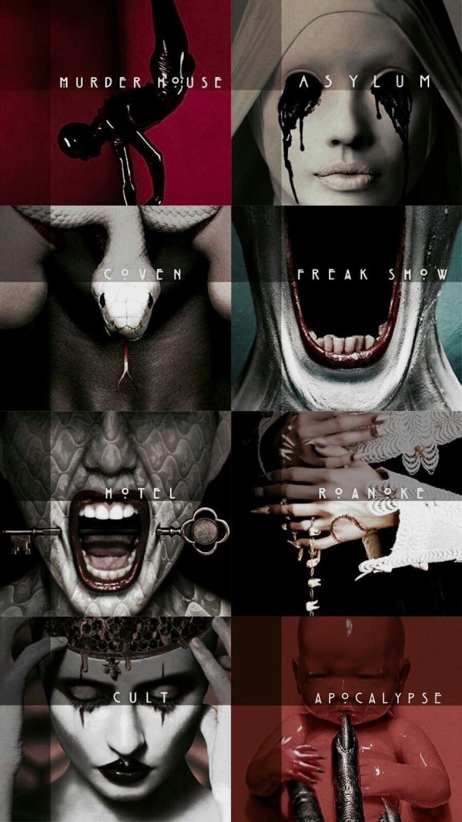 American horror story all seasons wallpaper Histórias de