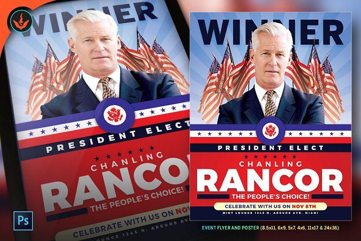 President Elect Political Flyer Templat Design Bundles Design - political brochure