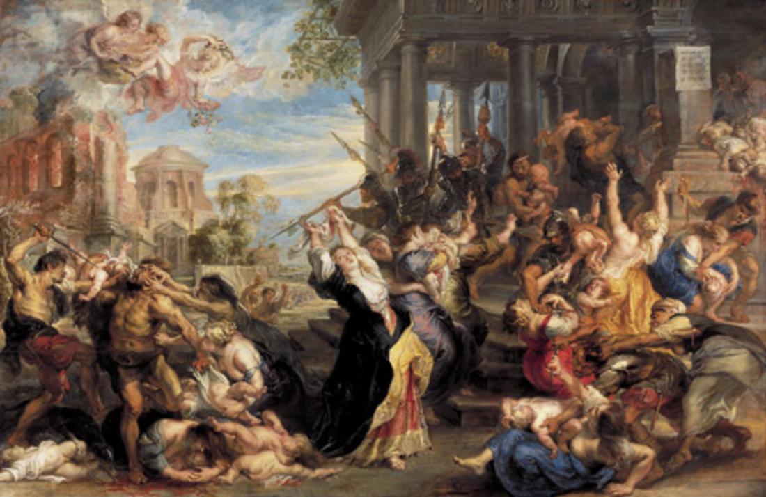 10. Massacre dos Inocentes (Peter Paul Rubens) Ano: 1611  Vendido em: 2002  Valor da venda: $76.7 milhões de dólares  Valor corrigido: $91.9 milhões de dólares