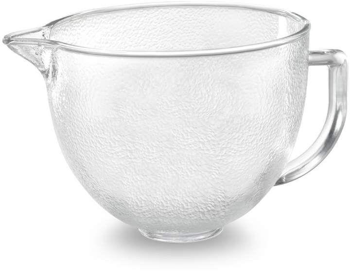 Kitchenaid hammered glass bowl 5 qt mixer accessories