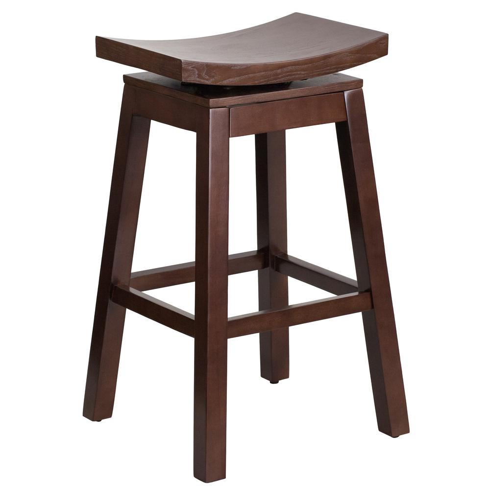 Carnegy Avenue 30 In Cappuccino Bar Stool Bar Stools Wood Bar Stools Counter Height Stools