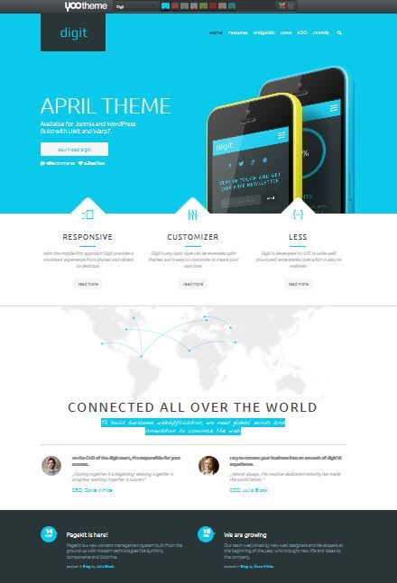 Choose updated templates for a fresh web design http://www.yootheme ...
