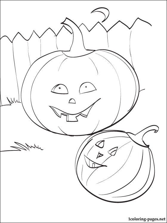 Printable page Pumpkins for Halloween | Coloring pages | Art: draw ...