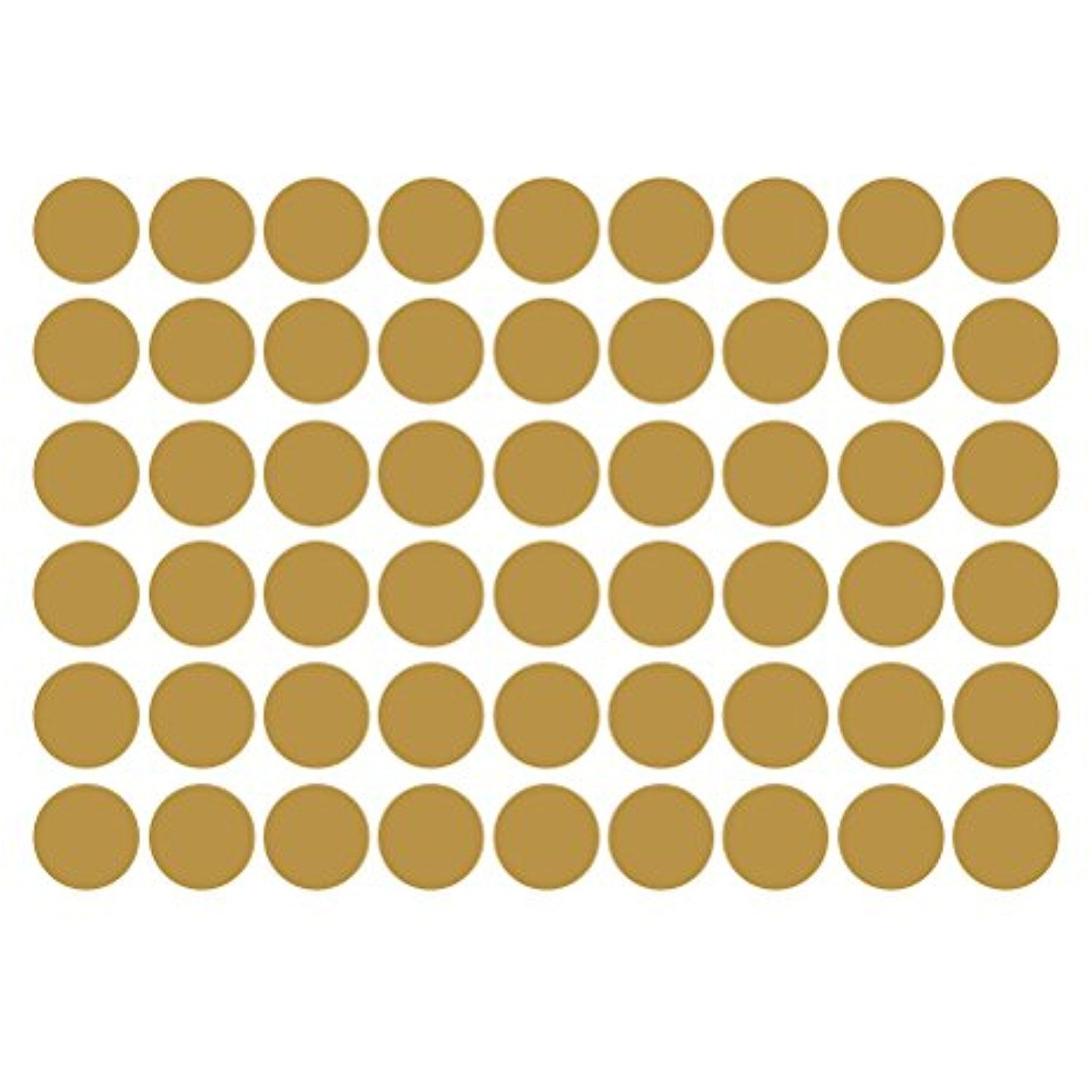 WINOMO 54 Decals Gold Dot Wall Stickers Removable Metallic Dot ...