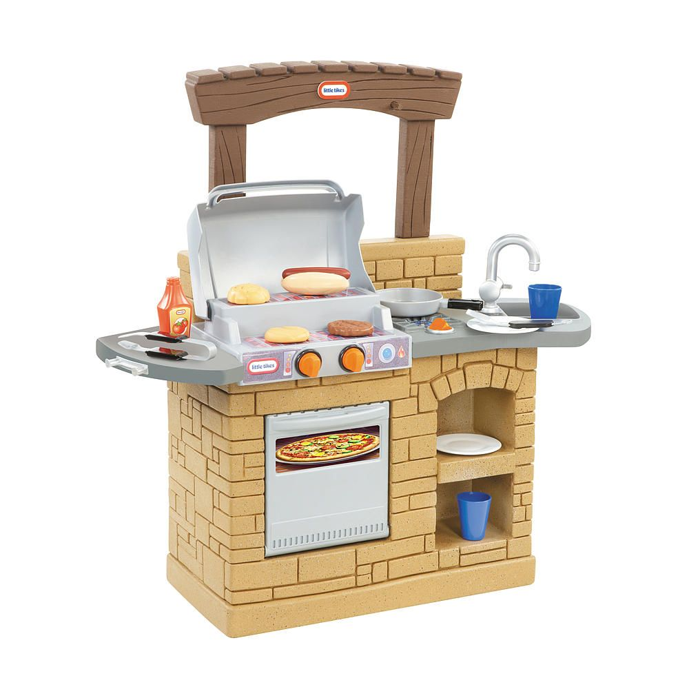 The Little Tikes Cook \'n Play Outdoor BBQ has sleek and modern ...