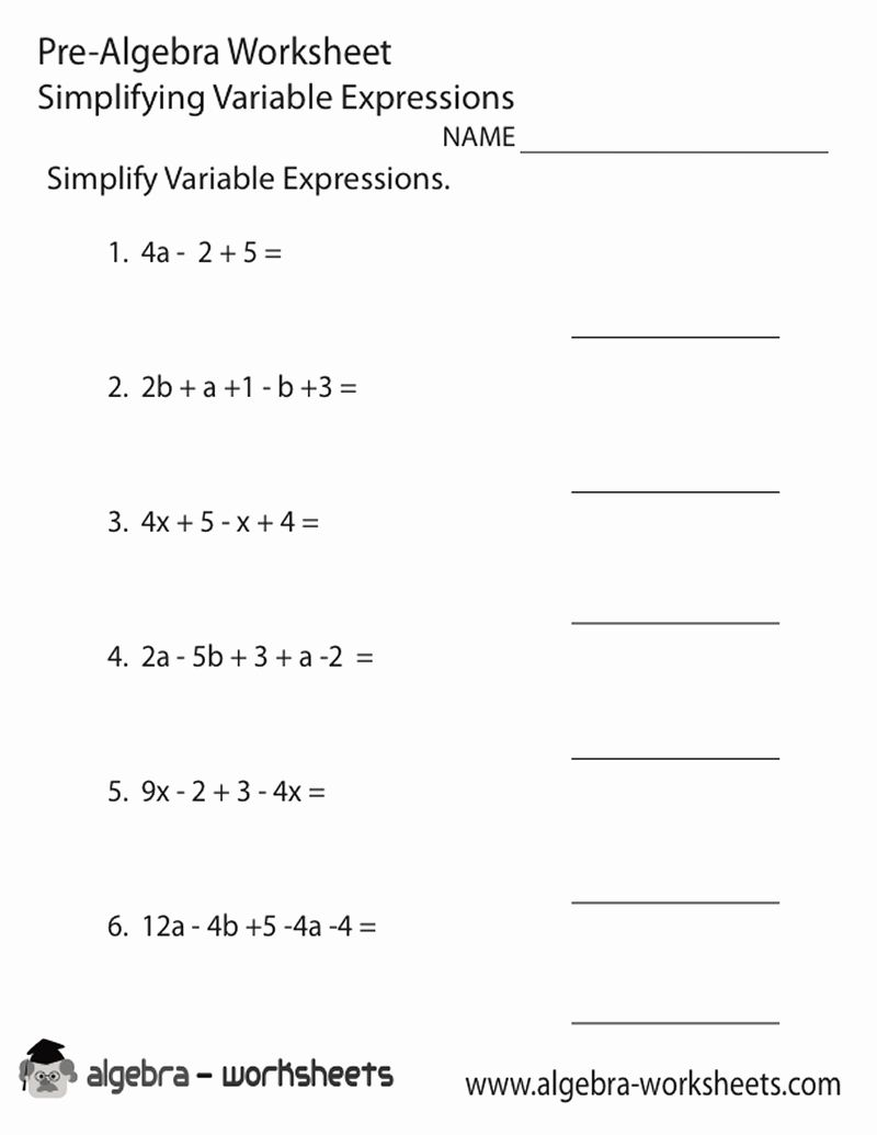 Math Worksheets 8th Grade Pdf Algebra Worksheets Algebraic Expressions Simplifying Algebraic Expressions