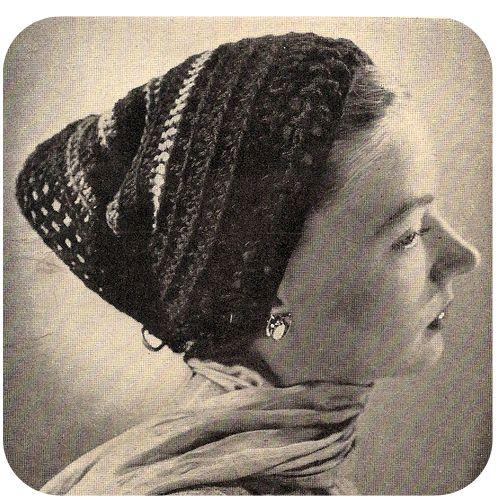 Vintage Head Scarf Hat Crochet Pattern Vintage 1940s Vintage