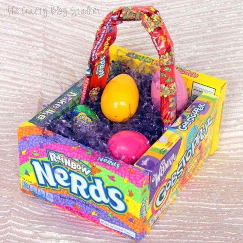How to make a candy easter basket easter decor easy diy crafts candy easter basket candy basket diy handmade gift easter decor may negle Image collections