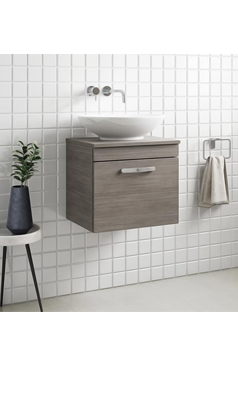 Best Drench Emily 500Mm Wall Mounted 1 Drawer Vanity Unit And 400 x 300