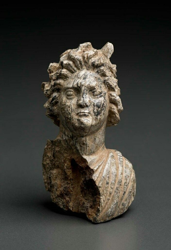 Steatite Bust Of Helios The Sun God Roman Late Hellenistic To