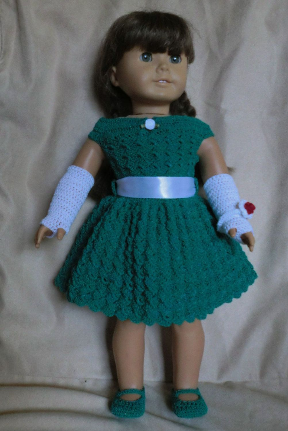 169 Holiday Outfit - Crochet Pattern for American Girl Dolls ...