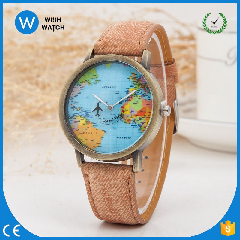 Wholesale 5130 hot sell shopping online world map novelty relojes wholesale 5130 hot sell shopping online world map novelty relojes hombre airplane aircraft hand leather strap gumiabroncs Gallery