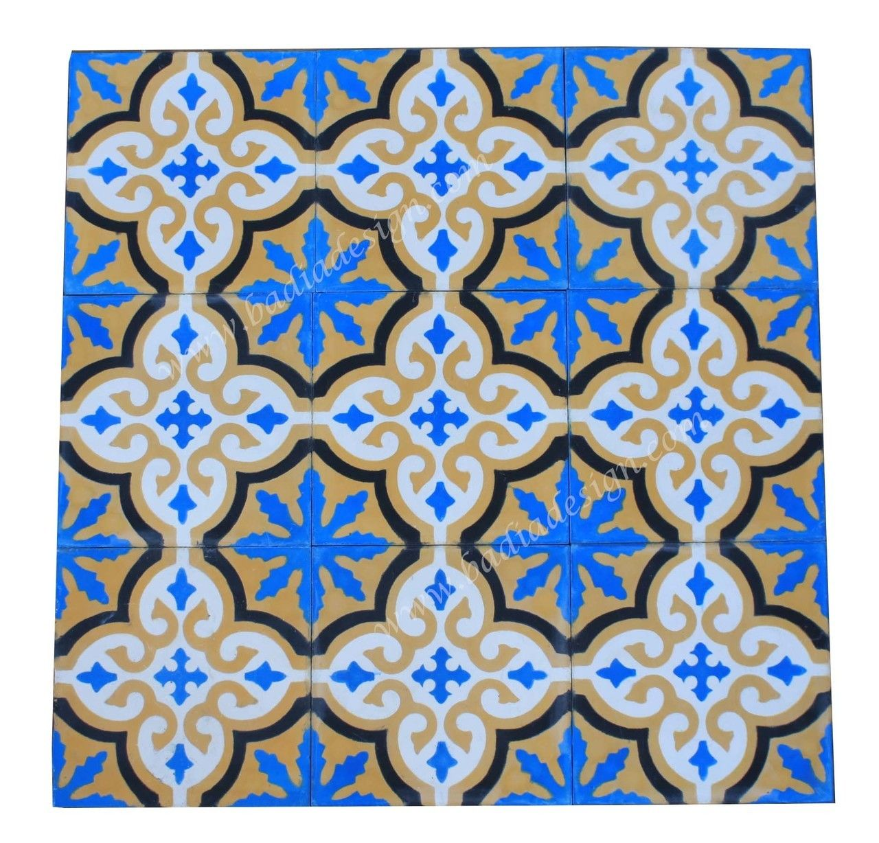 Badia Design Inc Store - Moroccan Hand Painted Cement Tile - CT086 ...