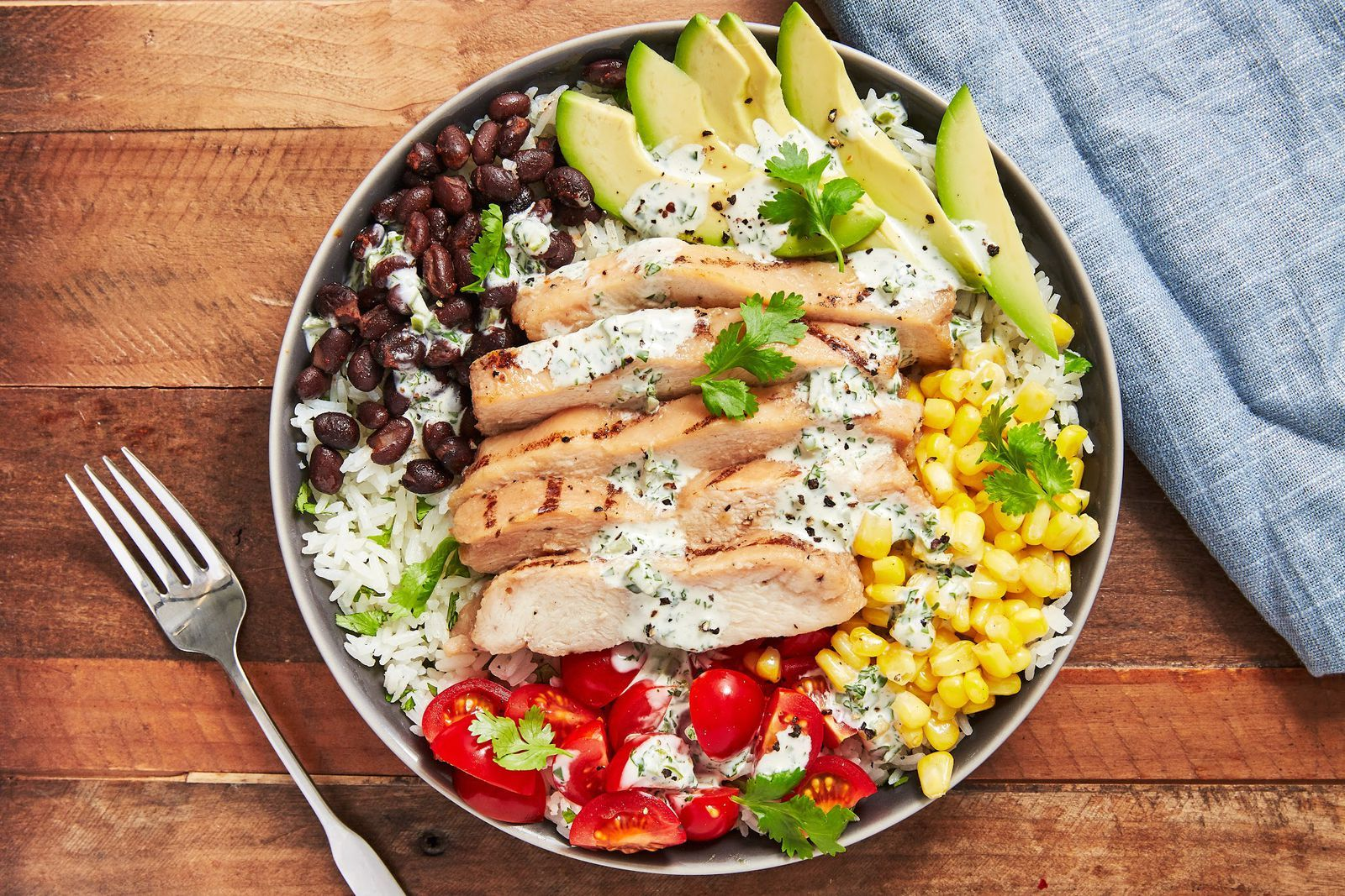 Cilantro Lime Chicken & Rice Bowl