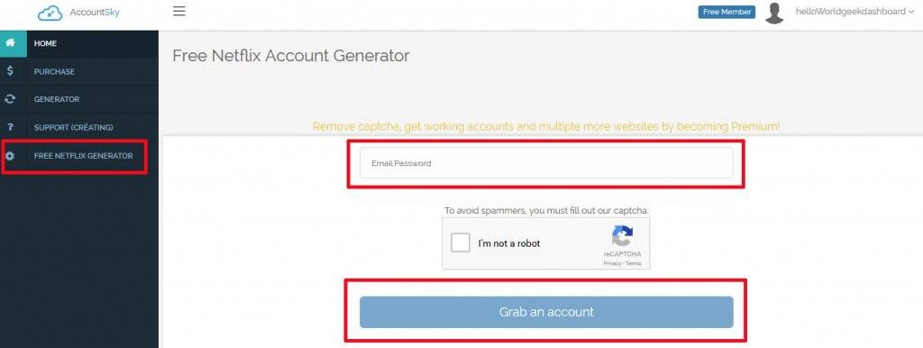 Free netflix premium account usernames and passwords 2016