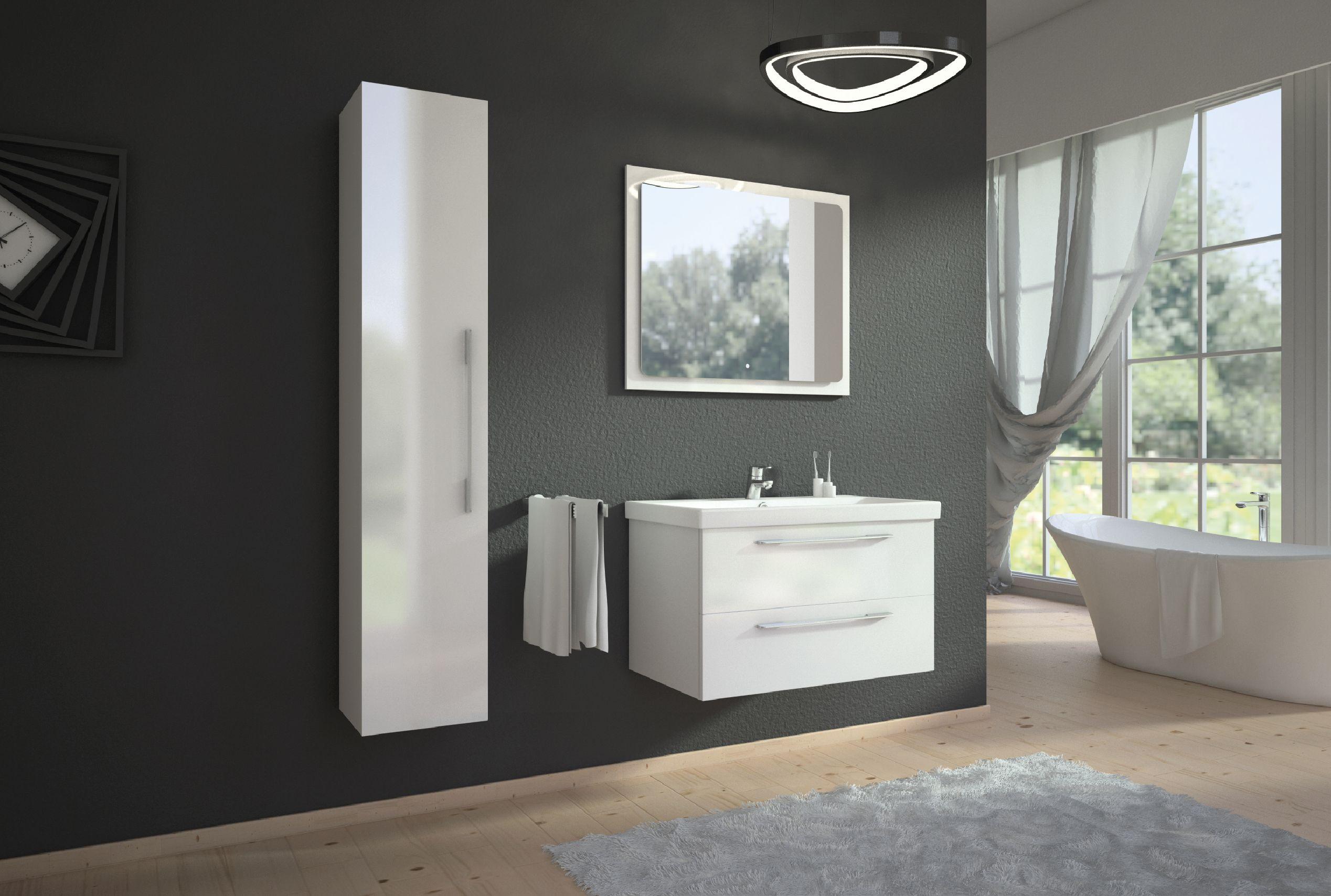 W Swoich Lazienkach Stawiacie Na Modny Minimalizm Czy Wolicie Raczej Maksymalistyczne Podejscie Do Urza Lighted Bathroom Mirror Bathroom Mirror Bathroom Vanity