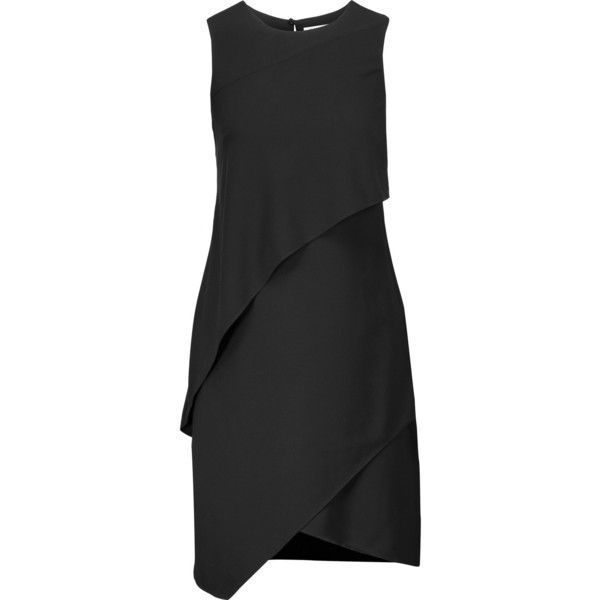 9467bf5ba882 Halston Heritage Layered crepe mini dress ( 210) ❤ liked on Polyvore  featuring dresses