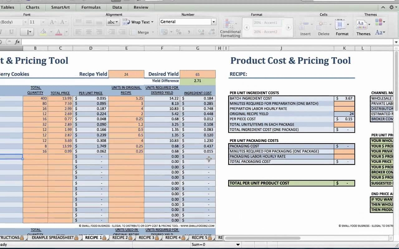 Food Product Cost Pricing Tutorial Cake Pricing Calculator Food Cost Cake Pricing