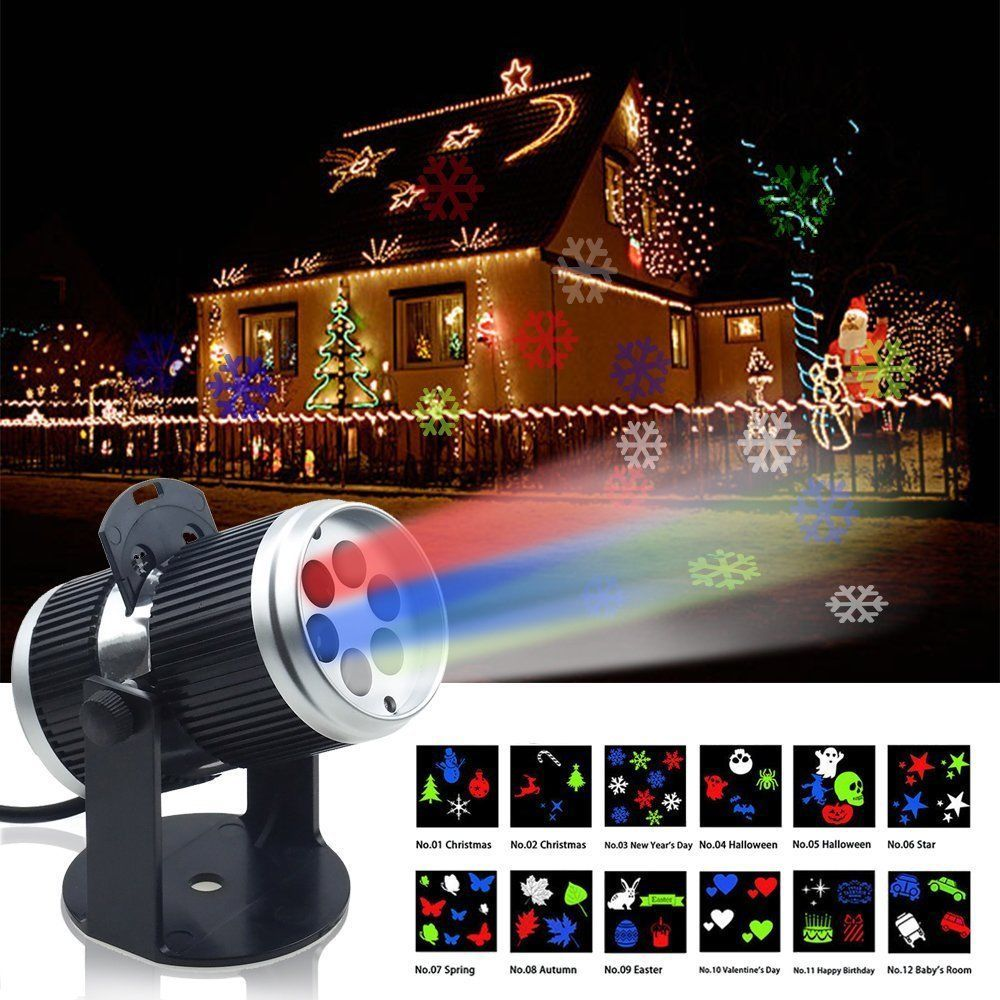 12 Projector Laser Led Light Halloween Christmas Home Decoration Stage Spotlight Ebay