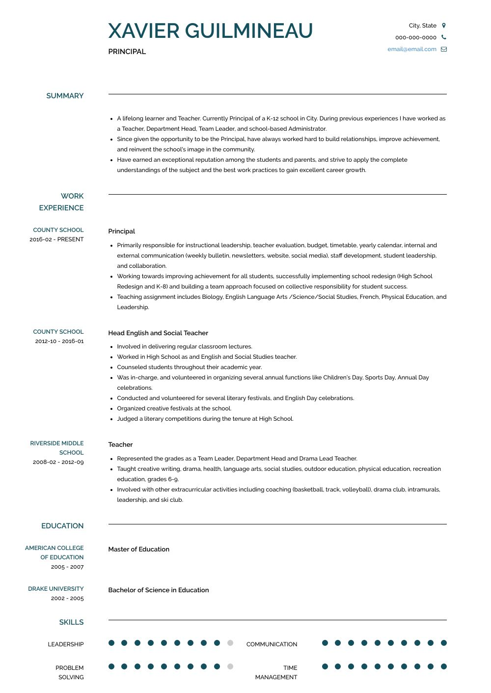 Building Your Best Assistant Principal Resume Cover