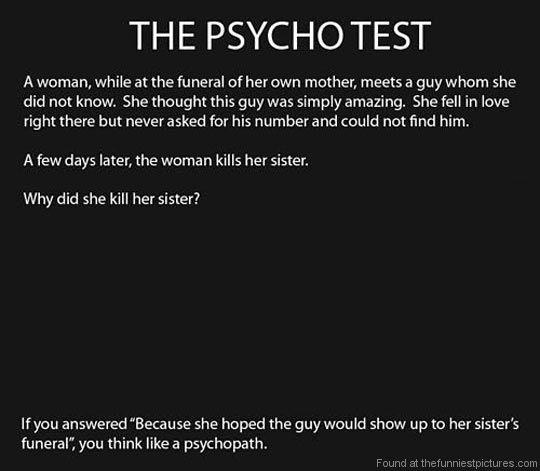 sociopath test funeral