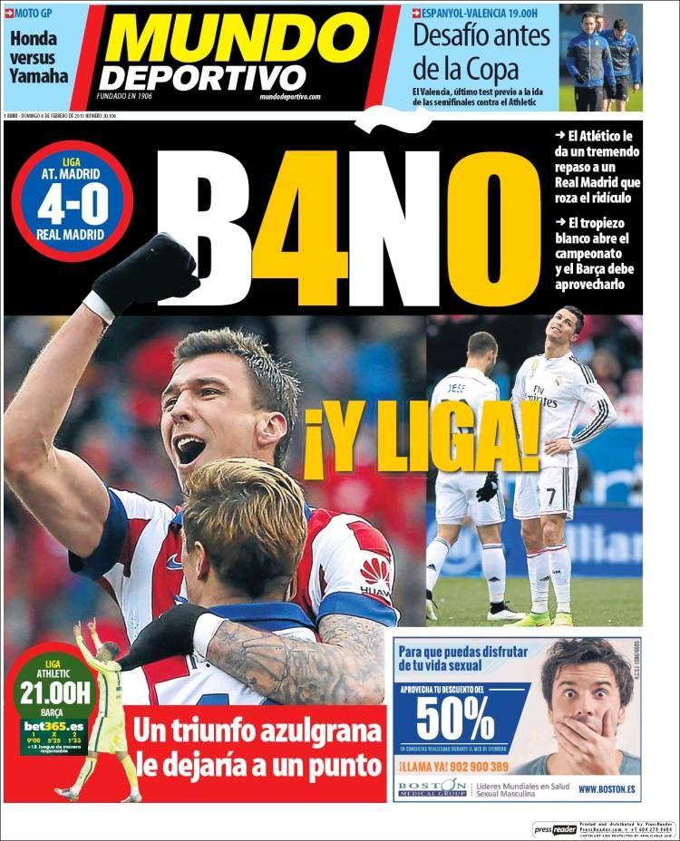 El Atlético humilla y golea 40 al Madrid en el Calderón