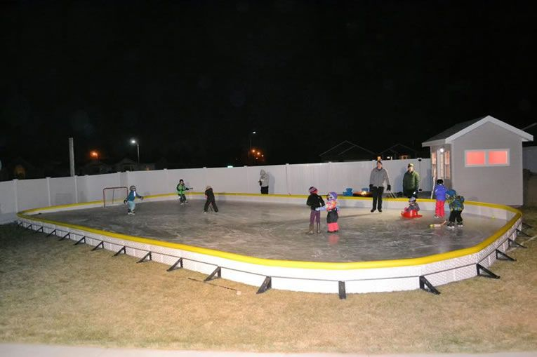 NiceRink Backyard Ice Rink Kit Makes Your Yard The Perfect ...