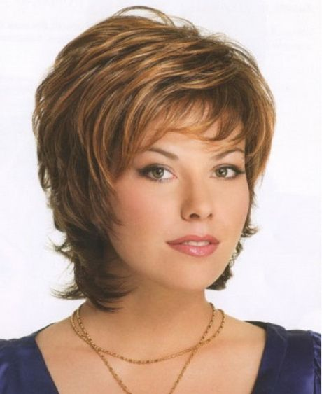 Older Women Hairstyles brown and blonde pixie for women over 50 Short Hairstyles For Older Women With Round Faces