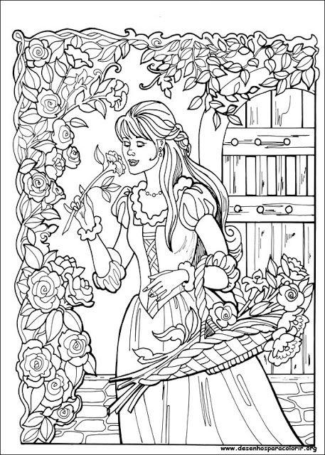 Desenhos para colorir da princesa Leonora | Desenhos e Riscos - Desenhos para colorir