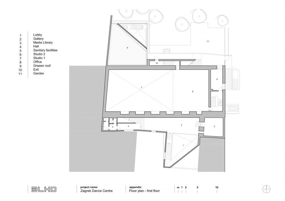 Zagreb Dance Center 3lhd How To Plan Floor Plans Zagreb