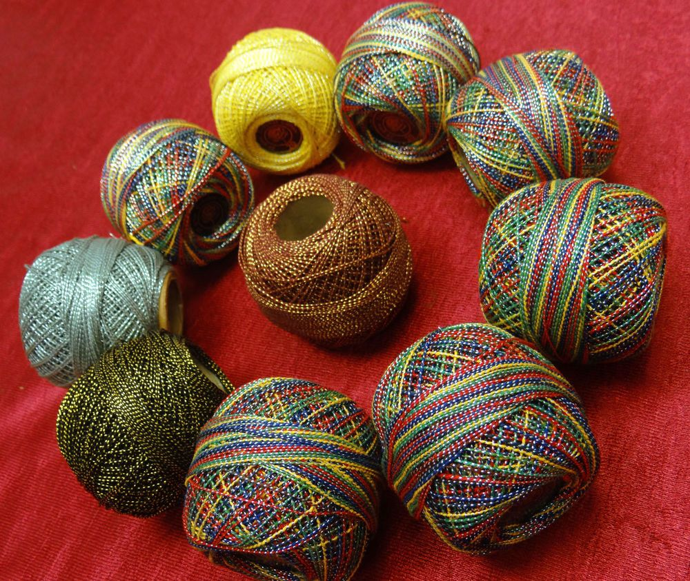 Thread Mercer 10 Pcs Cotton Crochet Thread Yarn Craft Tatting Knit Embroidery