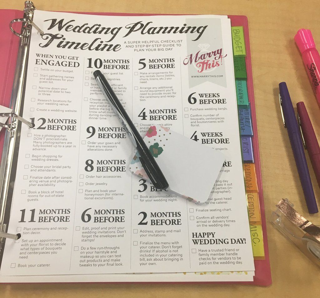 A Diy Wedding Planning Binder To Get Your Big Day Organized